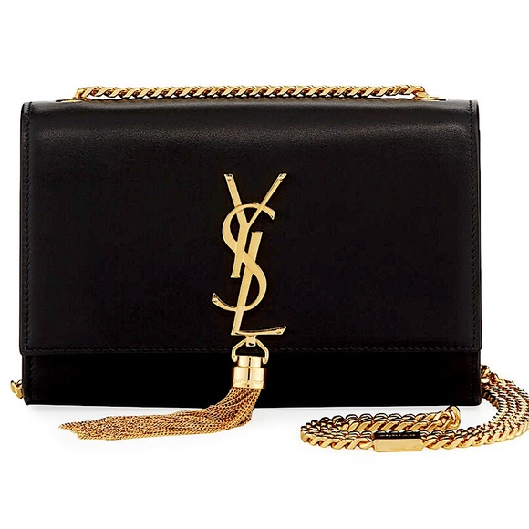 YSL KATE SMALL BAG WITH TASSEL EMBOSSED LEATHER